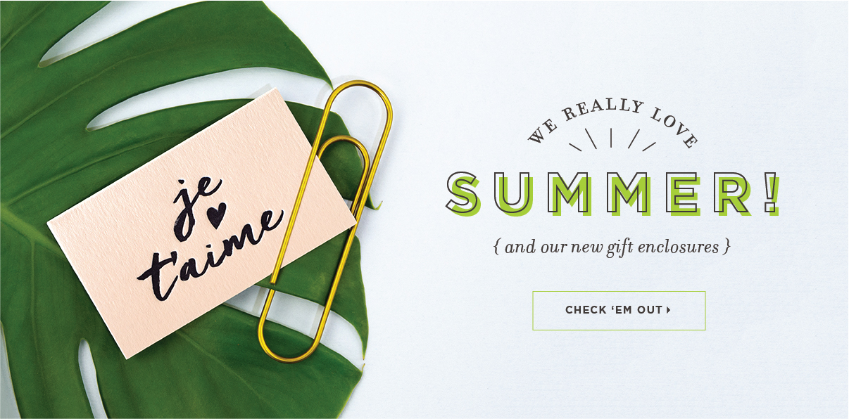 Summer of Stationery Letterpress Mini Notes