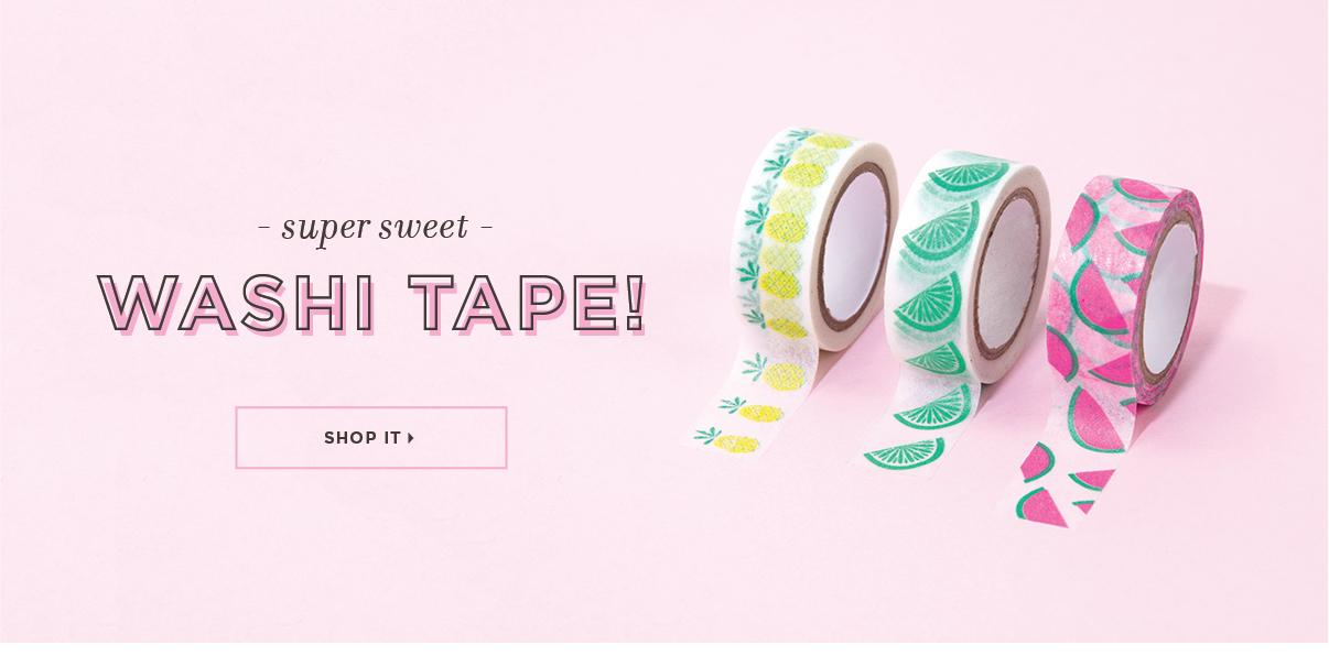 Summer 2017 Washi Tape