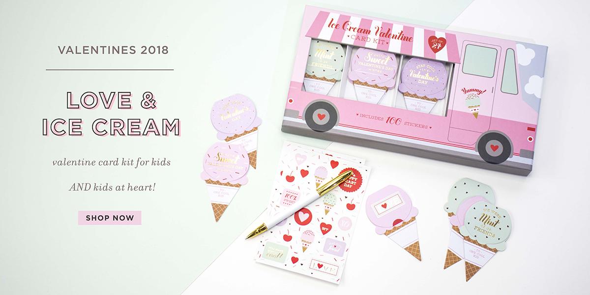 ice cream truck card kit