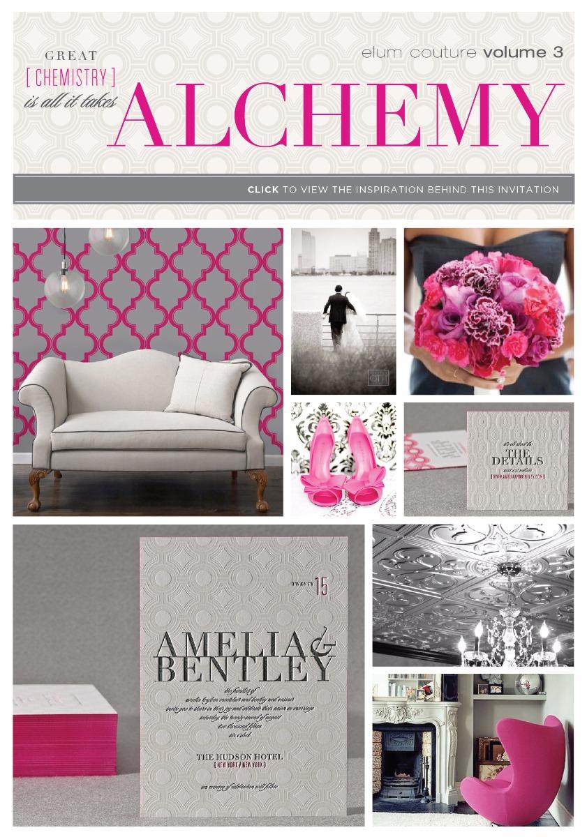 Alchemy Letterpress Wedding Invitation By Elum Designs