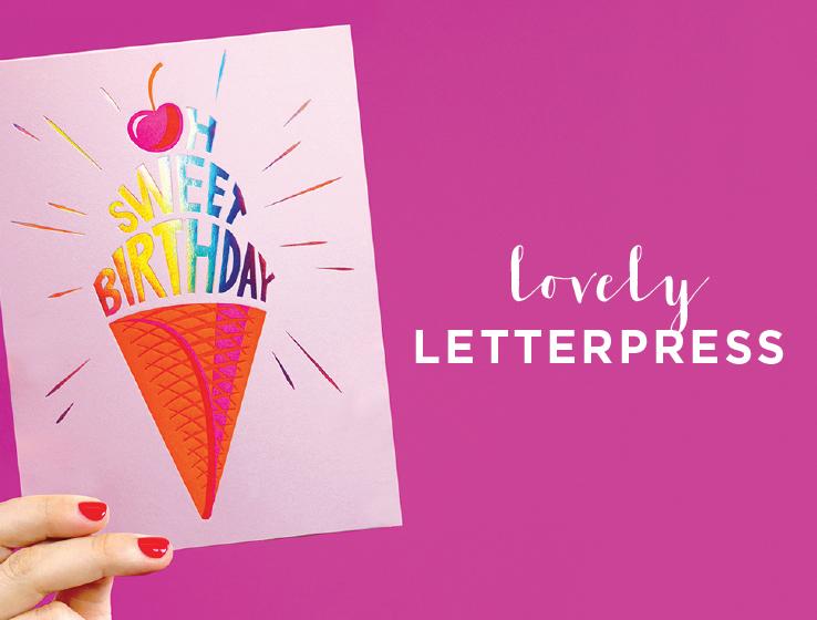 Elum Designs Letterpress Greeting Cards