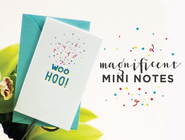 Elum Designs Letterpress Mini Notes
