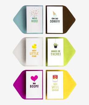 6 Assorted Icon Mini Notes