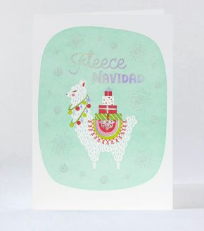 Gilded Let It Snow Letterpress Holiday Card