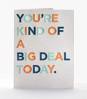 Elum Designs Big Deal Letterpress Birthday Greeting Card