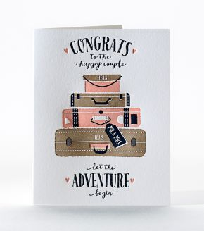 Elum Designs Bon Voyage Letterpress Greeting Card