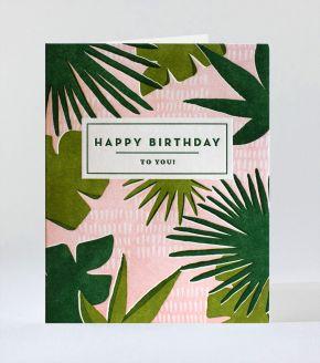 Elum Designs Cubic Thanks Letterpress Greeting Card
