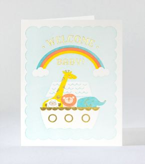 Elum Designs Cubic Thanks Letterpress Greeting Card