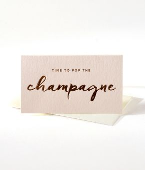 Champagne Mini Notes - Set of 10