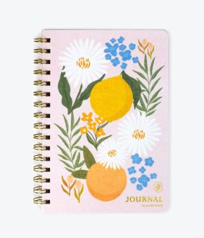 Citrus Florals Spiral Bound Journal
