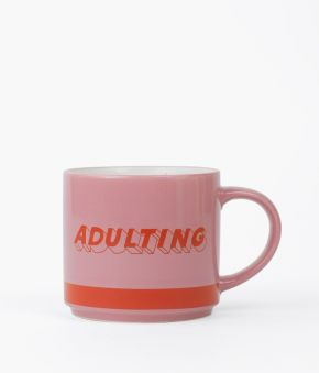 Adulting Hard Ceramic Mug