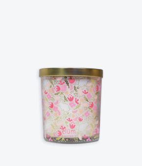 Spring Flat Florals Blush 12 oz. Candle