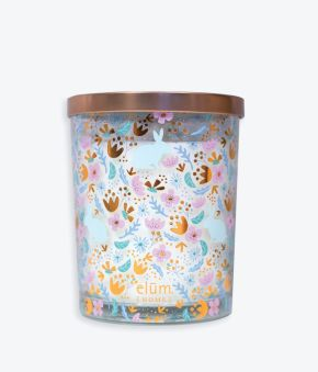 Spring Flat Florals Multi Rose Gold 18 oz. Candle