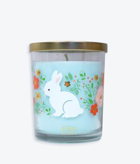 Floral Garden Bunnies 18 oz. Candle