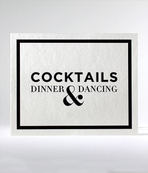 Classic B&W Reception Sign