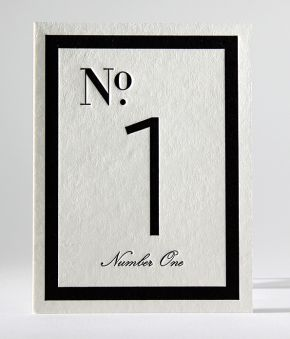 Classic B&W Table Numbers 1 - 9