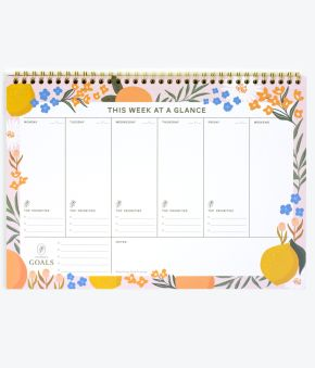Citrus Florals Desk Weekly Planner