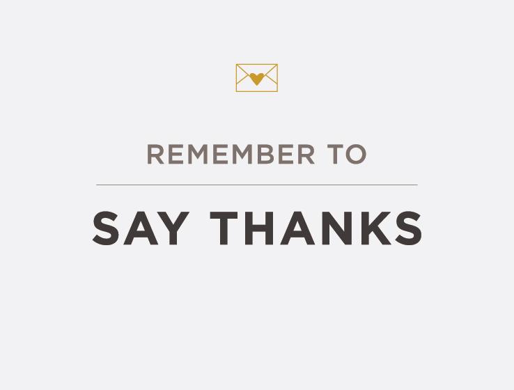 Elum Designs Letterpress Thank You Cards
